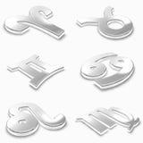 zodiac σημαδιών ενός μέρους Στοκ Εικόνες