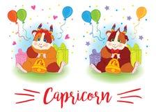zodiac σημαδιών 6587 guinea pig shoulder Αιγόκερος ελεύθερη απεικόνιση δικαιώματος