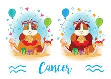 zodiac σημαδιών 6587 guinea pig shoulder καρκίνος απεικόνιση αποθεμάτων
