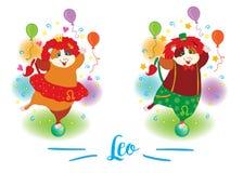 zodiac σημαδιών 6587 guinea pig shoulder leo διανυσματική απεικόνιση