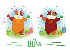 zodiac σημαδιών 6587 guinea pig shoulder libra απεικόνιση αποθεμάτων