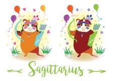 zodiac σημαδιών 6587 guinea pig shoulder sagittarius διανυσματική απεικόνιση
