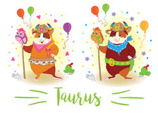 zodiac σημαδιών 6587 guinea pig shoulder taurus ελεύθερη απεικόνιση δικαιώματος
