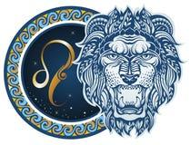 zodiac σημαδιών leo ελεύθερη απεικόνιση δικαιώματος