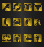 zodiac συμβόλων εικονιδίων Στοκ φωτογραφία με δικαίωμα ελεύθερης χρήσης