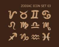 Zodiac σύνολο 03 εικονιδίων ελεύθερη απεικόνιση δικαιώματος