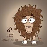 Zodiac του Leo αναδρομικός εκλεκτής ποιότητας τυποποιημένος σημαδιών σε διανυσματικό EPS10 απεικόνιση αποθεμάτων