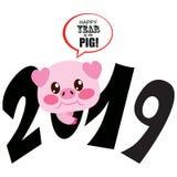 2019 Zodiac χοίρος Στοκ εικόνα με δικαίωμα ελεύθερης χρήσης