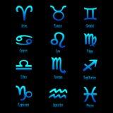 διανυσματικό zodiac σημαδιών Στοκ Εικόνες