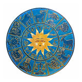 Zodiac. With sun isolated included clipping path Royalty Free Stock Photo