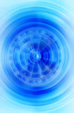 Zodiac. Astrological signs in blue tonality vector illustration