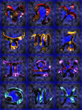 Zodiac. 12 Signs of the zodiac stock illustration