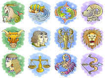 Zodiac σύνολο εικονιδίων Στοκ εικόνες με δικαίωμα ελεύθερης χρήσης
