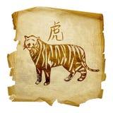 Zodiac τιγρών εικονίδιο Στοκ Φωτογραφία