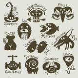 Zodiac stock illustrationer