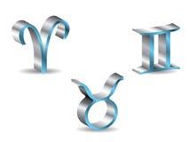 Zodiac 3d 1. 3d zodiac signs in vector format Stock Image