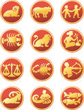 Zodiac. The full set of the signs of the zodiac Stock Photography