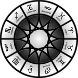 Zodiac. Illustration of a circle containing 12 zodiac signs Royalty Free Stock Photo