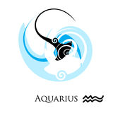 Zodiac. Abstract artistic zodiac sign with spirals Stock Image
