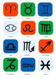 Zodiac. Abstract artistic zodiac sign with spirals Stock Photos