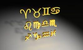 Zodiac. A picture of a golden zodiac Stock Photos