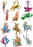 Zodiac. Design zodiacal signs in colour Royalty Free Stock Photography