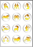 Zodiac. Icon buttons computer generated vector illustration