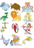 The zodiac. Full set of zodiac symbols Stock Illustration