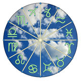 The zodiac against clouds Stock Photography