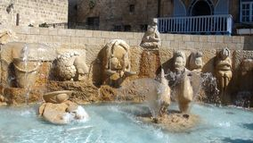 The Zodiac alleys, Fountain Astrological Signs, Jaffa Old City, Tel Aviv. Israel stock photos