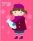 Zodiac-aquarius. Zodiac-illustration of a girl-aquarius Stock Images