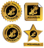 Zodiac - Aquarius Royalty Free Stock Image