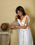 Zodiac aquarius girl. Aquarius or Water-Carrier woman, this photo is part of a series of twelve Zodiac signs of astrology royalty free stock image