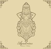 Zodiac Aquarius Royalty Free Stock Image