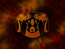 Zodiac Aries Starfield Stock Photo