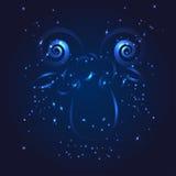 Zodiac Aries whith ακτινοβολεί αστέρι Στοκ Εικόνα