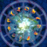 Zodiac. Astrology illustration with zodiac signs Royalty Free Stock Photography