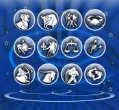 Zodiac background stock photo