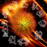 Zodiac background Royalty Free Stock Photos