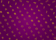 Zodiac background: variant royalty free illustration