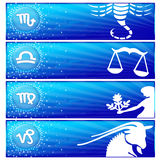 Zodiac banner set (01) Royalty Free Stock Photo