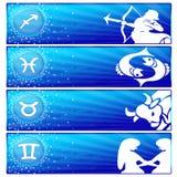 Zodiac banner set (02) Stock Photography