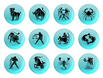 Zodiac blue Stock Images