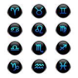 Zodiac buttons Stock Photography