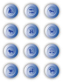 Zodiac Buttons Royalty Free Stock Images