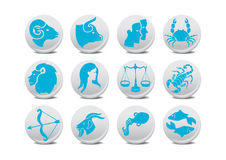 Zodiac Buttons Stock Images