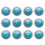 Zodiac buttons Stock Photo