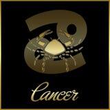 Zodiac-Cancer. Background of cancer sign horoscope royalty free illustration