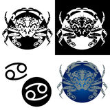 Zodiac Cancer Icons stock photography