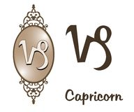 Zodiac - Capricorn. Featuring one of the zodiac sign Royalty Free Stock Photo